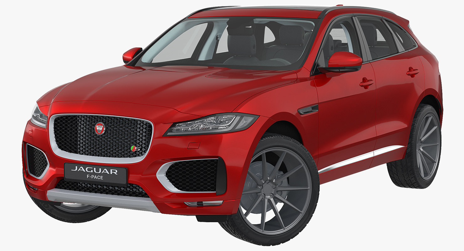 f-pace 2017 rigged 3D