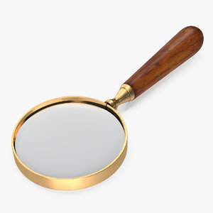 vintage magnifying glass 3D model