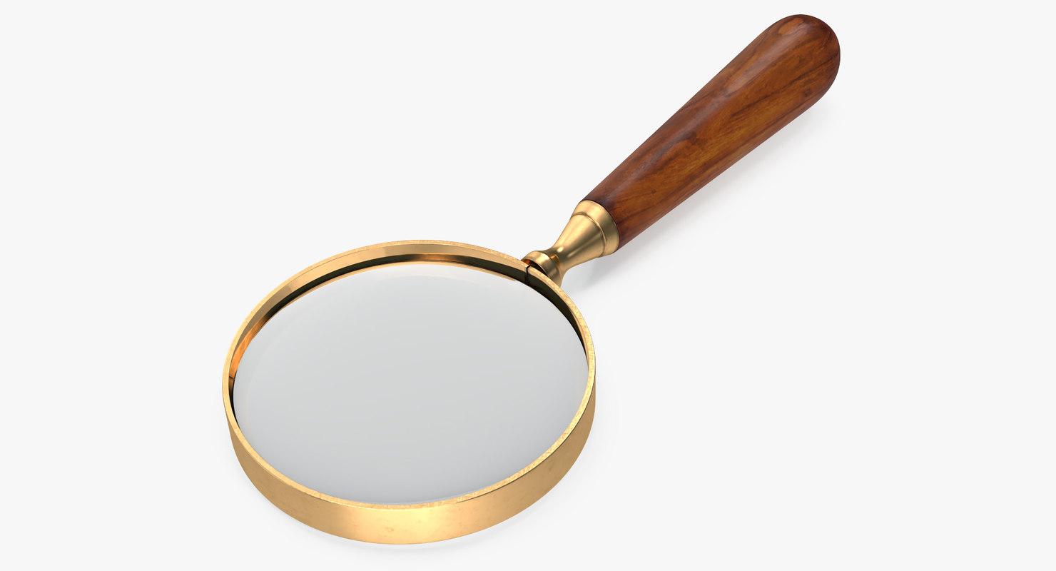 vintage magnifying glass 3D model