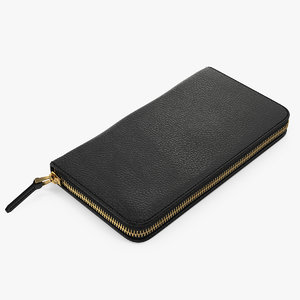 wallet black 3D model