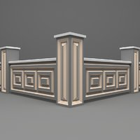 3D wall fence model