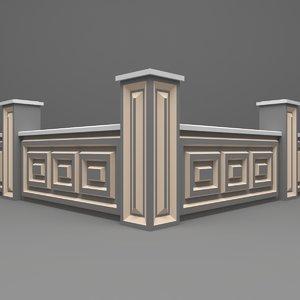 3D wall fence model