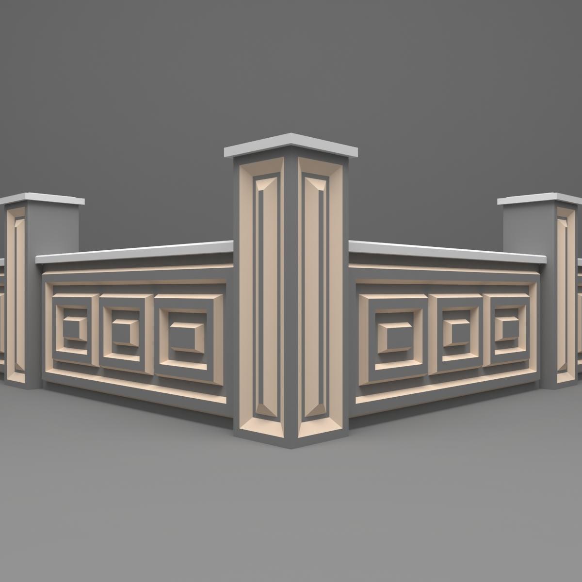 Architecte Jardin 3D Gratuit modèle 3d de clôture de jardin gratuit - turbosquid 1222105