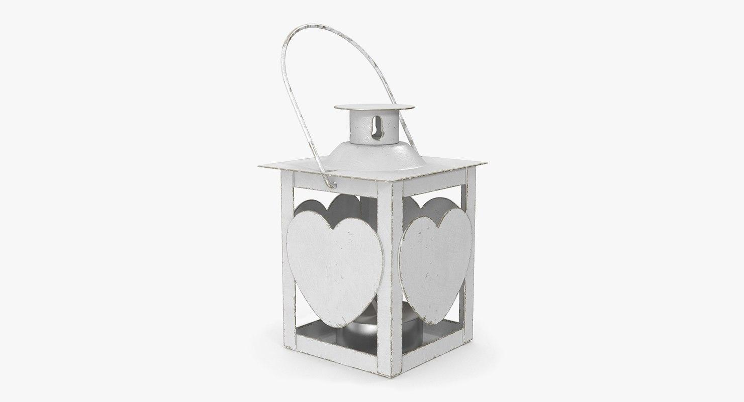 christmas heart lantern model