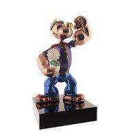 popeye sculpture jeff koons 3D model