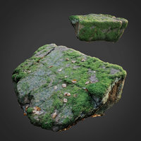 3D model scanned nature stone 038