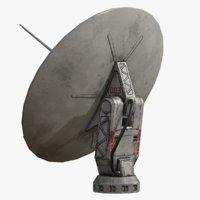 sci fi satellite dish 3D