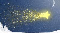 christmas star comet animated