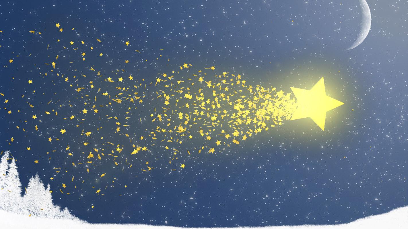 christmas star comet model