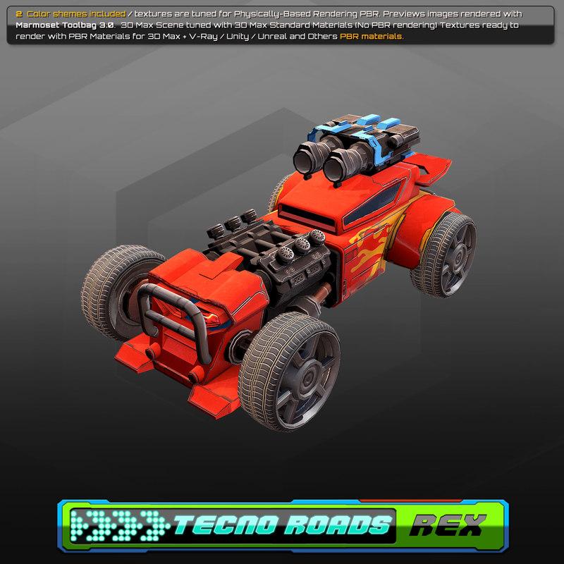 tecno car 3D model