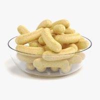 3D corn puffs model