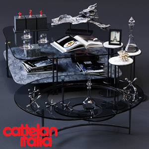 3D cattelan italia coffee tables