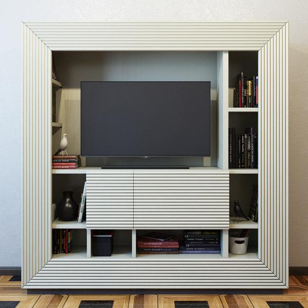 tv furniture century 3D model