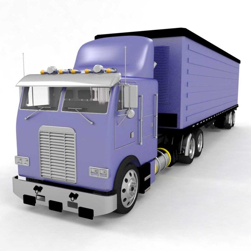 3D daf truck