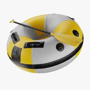 3D model river raft tube