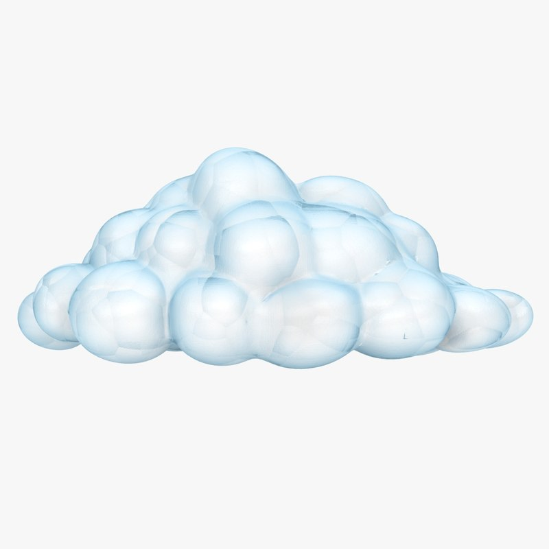 cloud scanline polygons 3D model