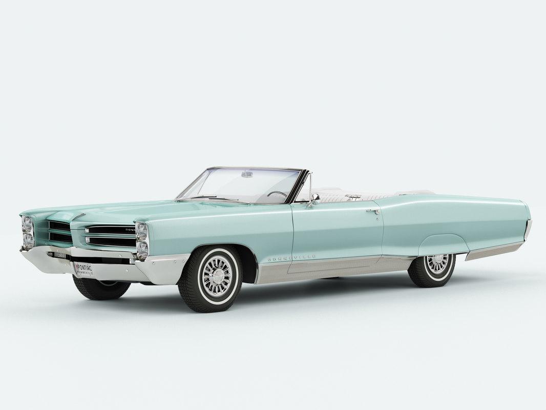 1966 pontiac bonneville convertible 3D model