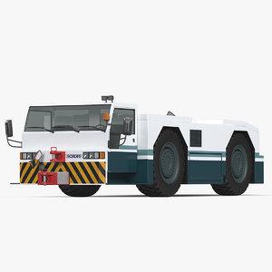 3D aircraft tow tractor schopf model