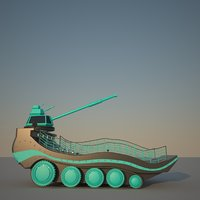 scifi smooth tank 3D model