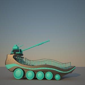 scifi smooth tank 3D model