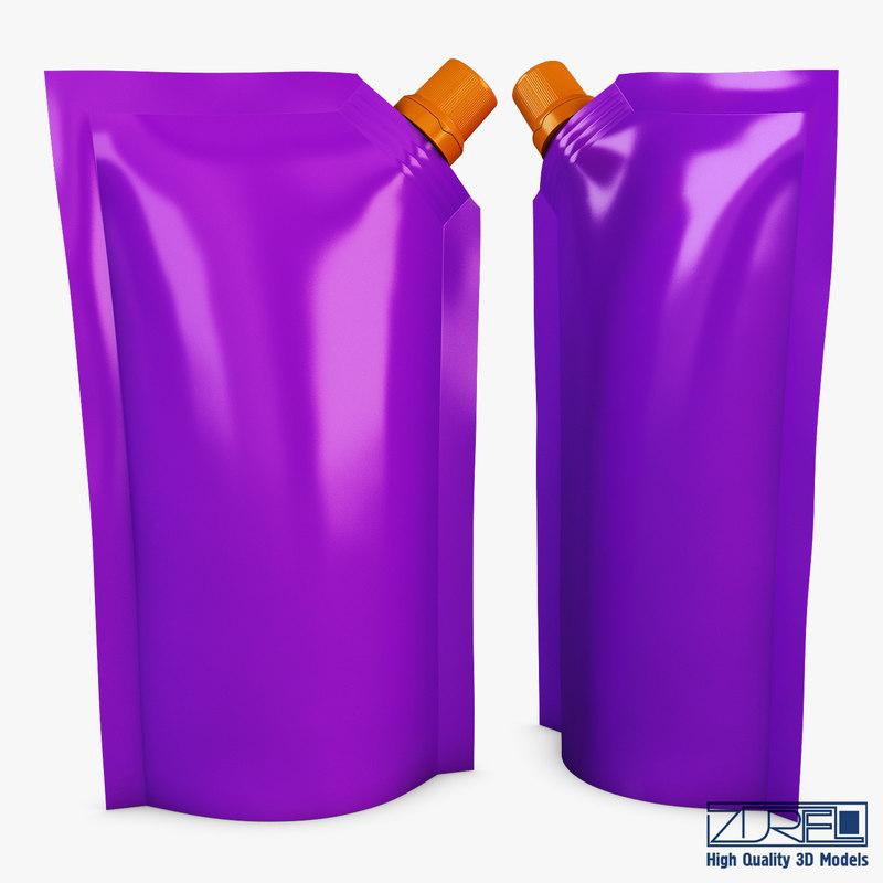3D doypack packaging v 3