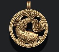 3D zodiac pisces model