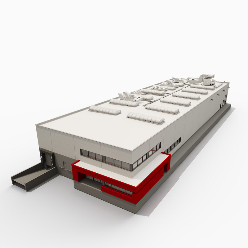 building industrial hall 3D