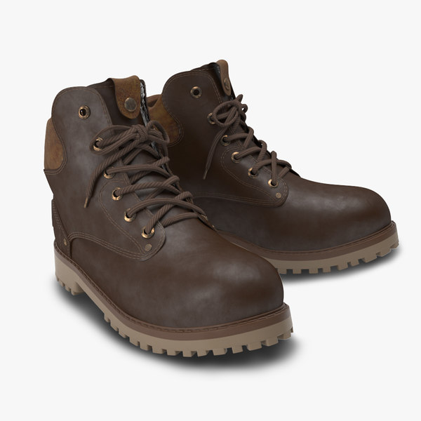 boots leather 3D model