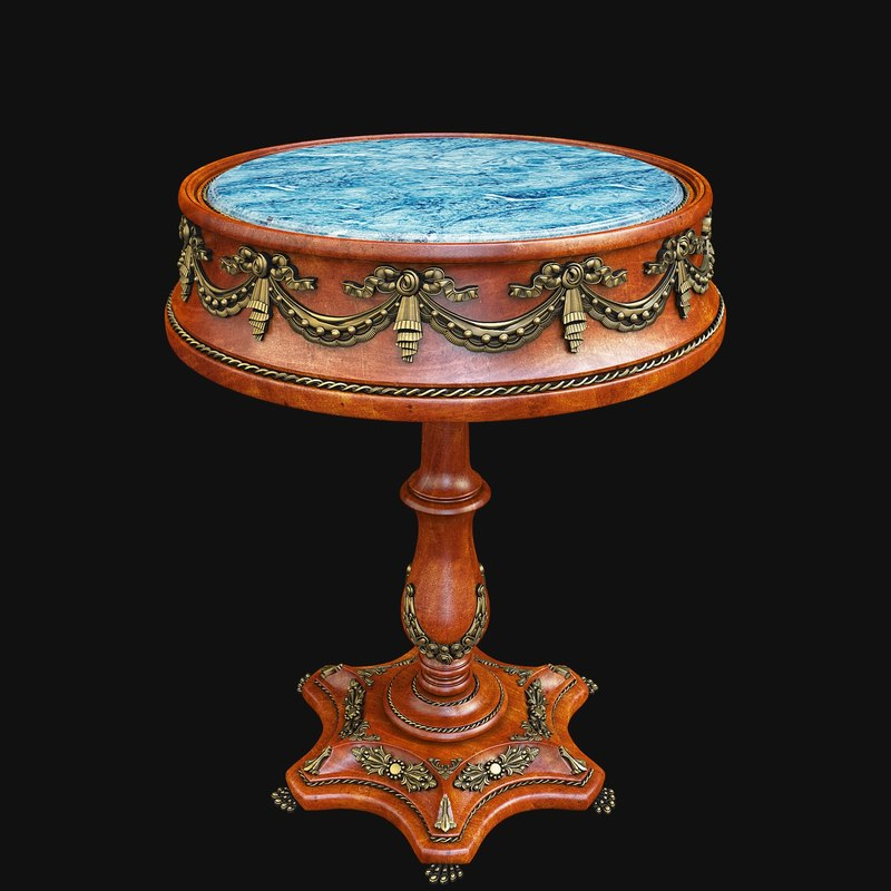 table antique 3D