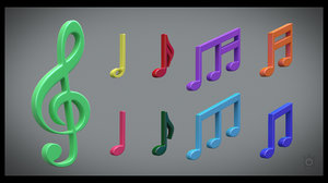 note clef 3D model
