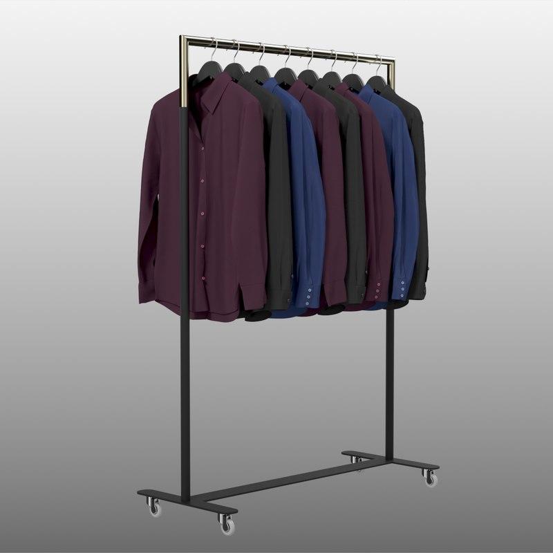 3D model realistic shirts dark