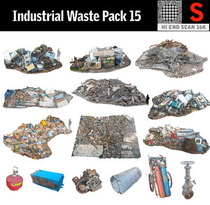3D industrial wastes pack 15 model