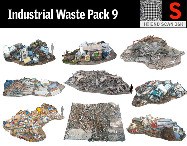 industrial wastes pack 9 model