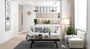 interior modern apartment 3D model