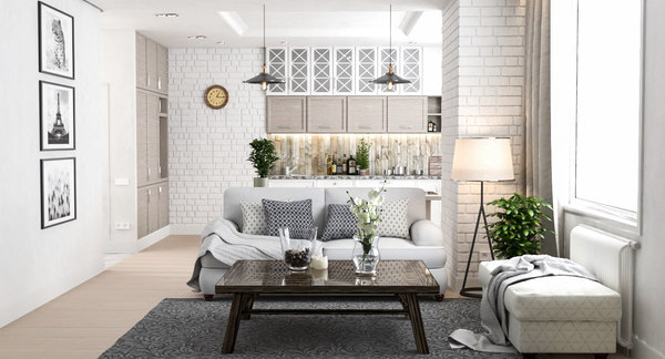interior modern apartment 3D model