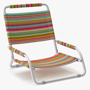 3D model beach chair