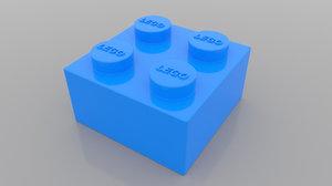 2x2 lego brick model