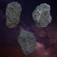 realistic asteroid pack model