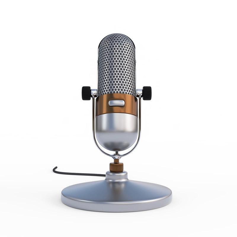 3D vintage microphone model