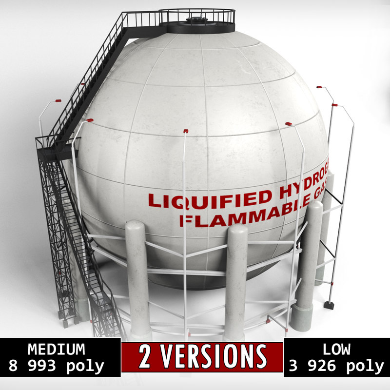 industrial sphere tank oil model
