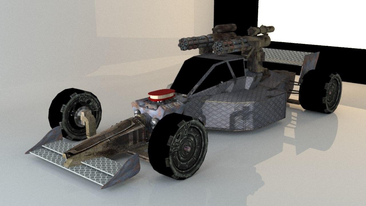 formula1 warrior 3D model