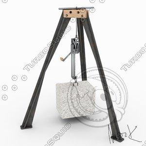3D model workshop crane
