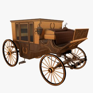 western carriage 3D model