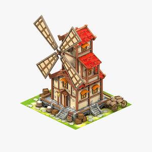 3D game mill model