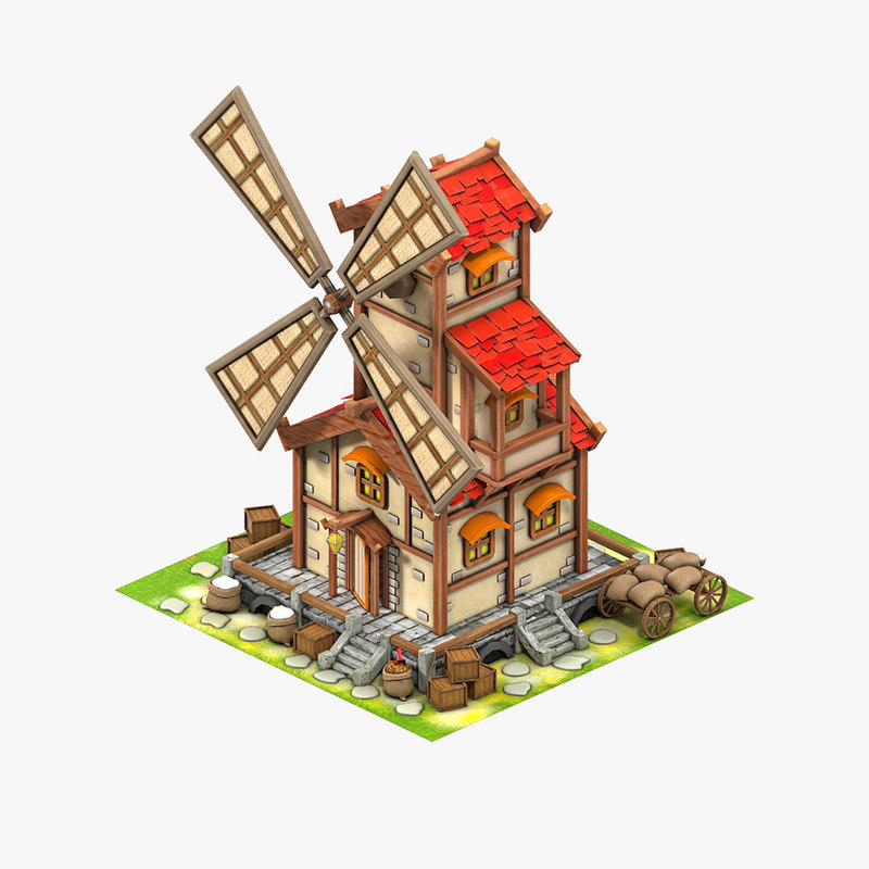 3D game mill model