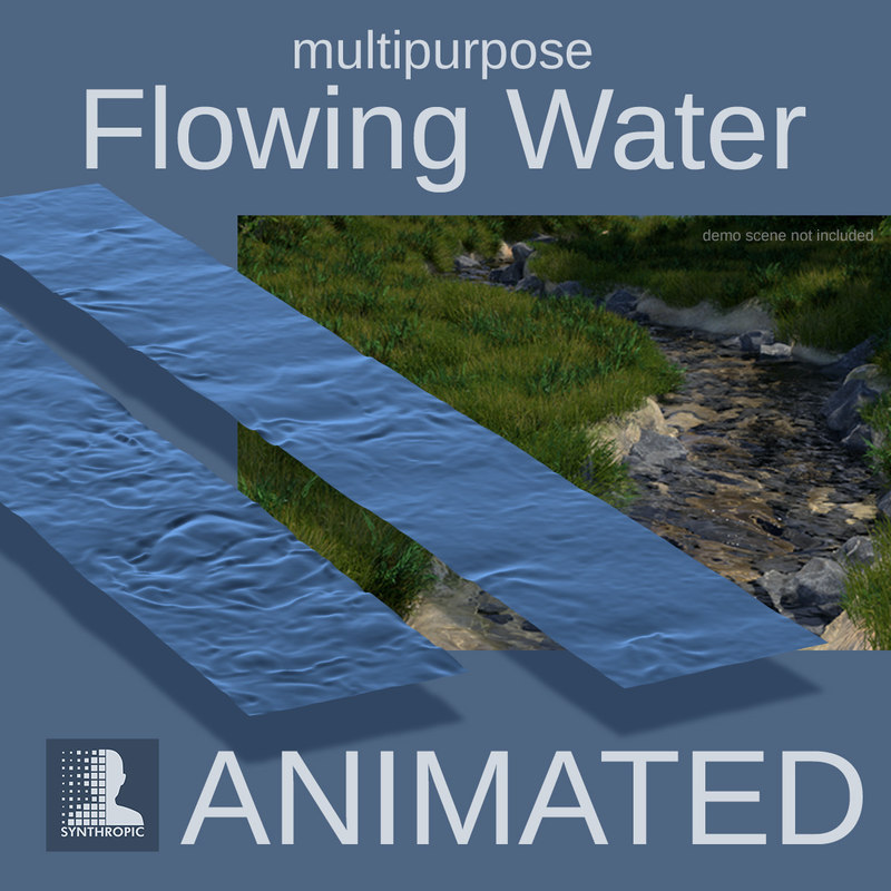 alembic flowing water surface 3D model