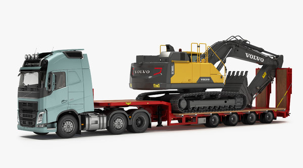 fh tracked excavator ec380el 3D model