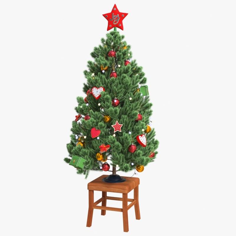 3D model cr01 christmas tree 01