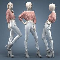 leather pants 3D model