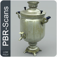 3D model samovar pbr scans
